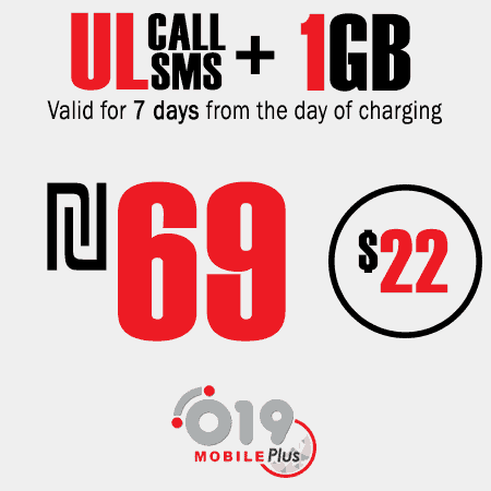 019 Mobile Unlimited calls and SMS + 1GB for 7 Days